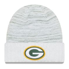 7c83e251eb1 Youth Green Bay Packers New Era White 2017 Color Rush Official Knit Hat