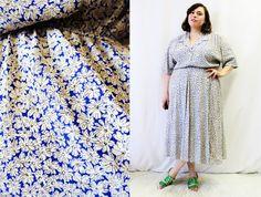 Plus Size - Vintage Blue & Purple Plaid Satin Shirt Dress (Size 20 ...