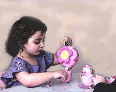 Afternoon Tea - Digital x -Giclee Print-Children's Art- Tea Party My Cup Of Tea, Afternoon Tea, Tea Time, Tea Party, Giclee Print, Tea Cups, Digital, Handmade Gifts, Painting