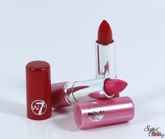 W7 Lippenstifte - Raspberry Ripple and Scarlet Fever