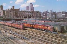 Chicago train station 1961                                                                    CHICAGO  PENNSYLVANIA