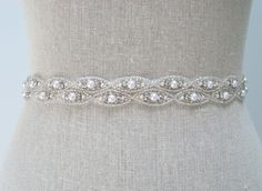 Pearl Bridal Belt - Alessandra. $115.00, via Etsy. but make it a wedding band