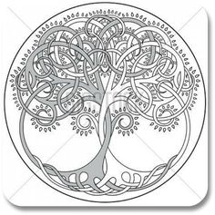 Irish Tattoo Designs - Tree of Life Design