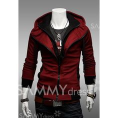 Casual Faux Twinset Polyester Hooded Spring Sweatshirt For Men. Yes getting it for myself!