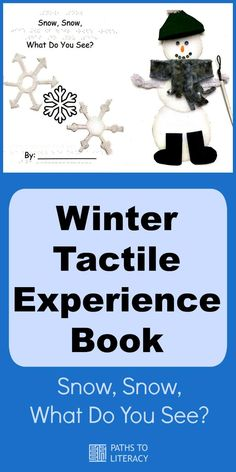 Make your own winter tactile experience book about snow!