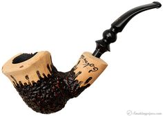 Nording Signature Partially Rusticated Freehand with Plateau Pipes at Smoking Pipes .com
