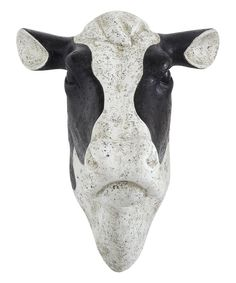 Look at this Resin Cow Head Wall Décor on #zulily today!
