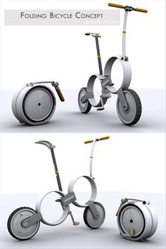 Geek Genius Ideas- Folding Bicycle Concept