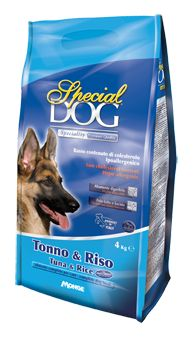 SPECIAL DOG SPECIALITY TUNA AND RICE. Complete dog food. For sophisticated and picky dogs.