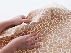 Diego Vencato  Wooden Mesh, 2012, projet de recherche, feutre et bois