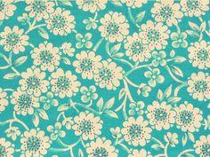 mint retro floral print