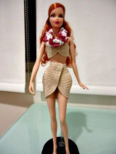 This hub is about crocheting clothes for your Barbie doll. It will also tackle the different body types available to the doll throughout the years. Links will be provided below to help you get started on crocheting for your Barbie doll. Crochet Doll Dress, Crochet Barbie Clothes, Doll Clothes Barbie, Barbie Dress, Barbie Doll, Barbie Clothes Patterns, Doll Dress Patterns, Clothing Patterns, Crochet Dolls Free Patterns