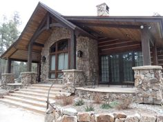 Timberline Framers Inc, Pagosa Springs, Colorado. Front entrance to residence.