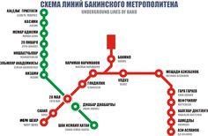 Baku U-Bahn-Karte, Aserbaidschan