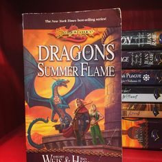 Dragons of Summer Flame ... Dragon lance was one of the first #fantasy series I ever read. #realmreads