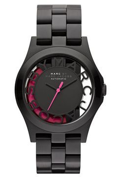MARC BY MARC JACOBS 'Henry Skeleton' Automatic Watch. This is cute, I just wish it wasn't so bulky.