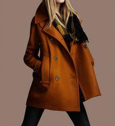 Yellow Cape Wool Coat Spring Woman Cloak Long von dresstore2000, $62.00
