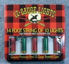 Cowboy Christmas! 12 Gauge Fired #Shotshell Cases 14 foot string 10 #Lights Indoor Outdoor Eastwood #EastwoodSpecialtyProducts