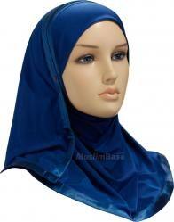 Kuwaiti Hijab premium quality Lycra Dark Teal - Sale