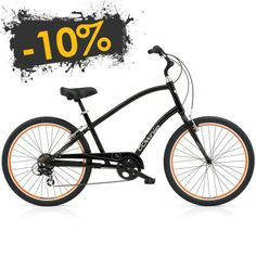 Bicicleta urbana ELECTRA Townie Original 7D Black