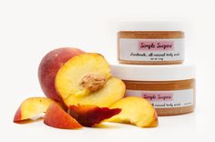 Peach Body Scrub  all natural  skincare