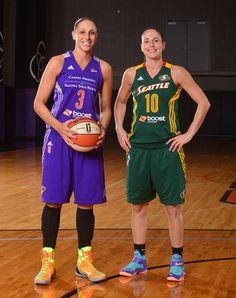 MERCURY: 2014 WNBA All-Star Game - Diana Taurasi and Sue Bird