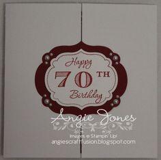 70.th Birthday card