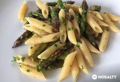Zöldspárgás penne Penne, Okra, Ravioli, Gnocchi, Asparagus, Vegetables, Food, Lasagna, Studs