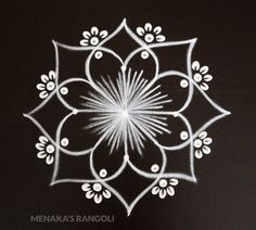 Simple Rangoli Border Designs, Simple Rangoli Kolam, Basic Mehndi Designs, Indian Rangoli Designs, Rangoli Designs Flower, Free Hand Rangoli Design, Small Rangoli Design, Rangoli Designs With Dots, Beautiful Rangoli Designs