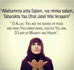 Oh Allah, You are the source of peace & peace comes from You alone. Hadith Quotes, Allah Quotes, Muslim Quotes, Prayer Quotes, Quran Quotes, Religious Quotes, Quran Sayings, Hijab Quotes, Qoutes