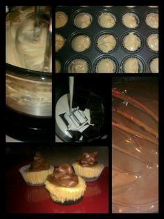 Peanut Butter & Chocolate Cheesecake Minis