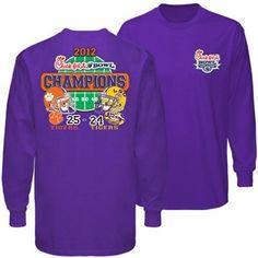 Clemson Tigers 2012 Chick-fil-A Bowl Champions Field Circle Long Sleeve T-Shirt!