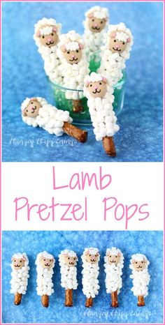 Make some fun homemade Easter treats for your kids. These Lamb Pretzel Pops are super cute and so easy to make.