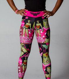 Wonder Woman Leggings   Wonder Woman Workout   Sexy Workout Gear   FéTre Designs
