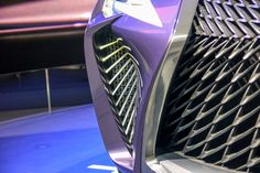 Paris 2016: Lexus UX offers ideas aplenty - Car Design NewsSome elements of the exterior are familiar from production cars like the RC coupe, with cuts and folds separating the leading edge of the front fender from the nose, with its wide spindle grille. The echo of the spindle using creases at the rear is also a familiar motif.