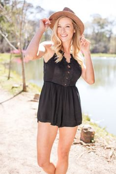 Do It My Way Deep V Floral Front Romper