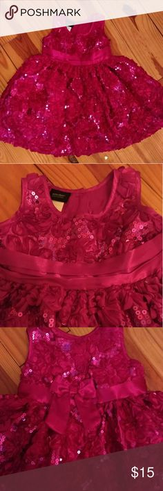 Pink Holiday Dress Pink holiday dress by Holiday Editions size 18 months. In excellent condition! Free of any defects. Buttons in back. Washed with baby detergent on delicate cycle only. Never dried in drier, only air dry. From a clean and smoke free home. Holiday Editions Dresses
