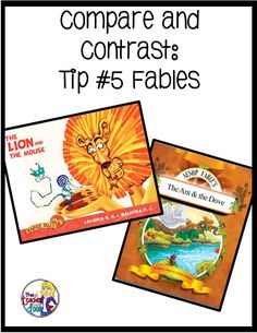 Comparing and contrasting fables are just one of the six ways to teach compare and contrast in this post full of ideas.