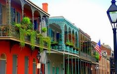 New Orleans  love the colors and balconies
