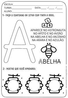 Atividade pronta - Alfabeto: Letra A - A Arte de Ensinar e Aprender