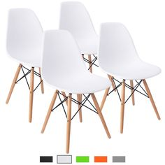 Buy Furmax Pre Assembled Modern Style Dining Chair Mid Century Modern DSW Chair, Shell Lounge Plastic Chair for Kitchen, Dining, Bedroom, Living Room Side Chairs Set of