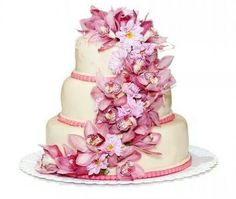 Too pink of a wedding cake