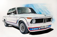 BMW 2002 Turbo Drawing