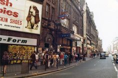 Oxford Street, SOHO, LONDON, Tottenham Court Road Station the Tube station I most used getting to and from work throughout the Seventies and Eighties. London Bus, London Life, Vintage London, Old London, Old Pictures, Old Photos, Berwick Street, London Manchester, Swinging London
