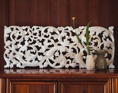 Large Balinese Hand Carved Wall Art Panel. by SiamSawadee on Etsy