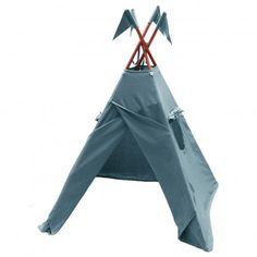 Numero 74 Cotton teepee - blue grey `One size Details : Structure in wood, 2 Windows, Storage bag included, self assembly, Handcrafted, Traditionally dyed, The Numéro 74 perfume is applied to each product, but is removed on the first wash * Fabr http://www.MightGet.com/january-2017-13/numero-74-cotton-teepee--blue-grey-one-size.asp