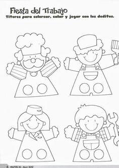Kukla Felt Puppets, Puppets For Kids, Felt Finger Puppets, Paper Puppets, Paper Crafts For Kids, Preschool Crafts, Arts And Crafts, Puppet Patterns, Felt Patterns