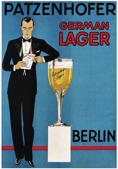 Poster advertisement for Patzenhofer German lager, Heinrich Becker collection.