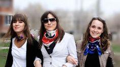 Silk neck scarves