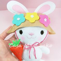 Bunny Felt Pattern #casamagubako, #Easterbunny, #feltbunny, #bunny, #softie, #ornament, #DIY, #sewingpattern, #feltpattern
